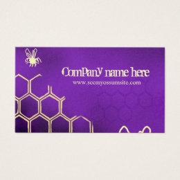 Purple bees business card