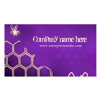 Purple bees business card templates