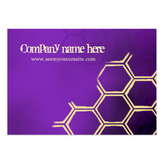 Purple bees business card template