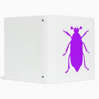 Purple Beetle 3 Ring Binders