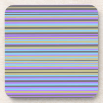 Purple, Beige, Gray and Blue Lines Coaster
