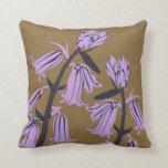Purple bell Blossom Decor#12d Modern Throw Pillow