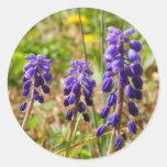 Purple Bell Buds Flower Sticker