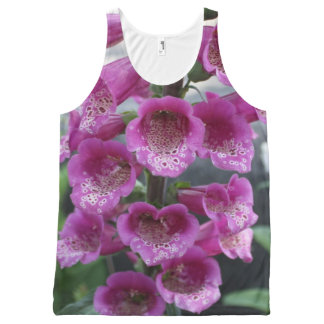 """Purple """"Bell"""" - Flowers in New Zealand All-Over Print Tank Top"""