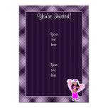 Purple Belly Dancer 5x7 Paper Invitation Card