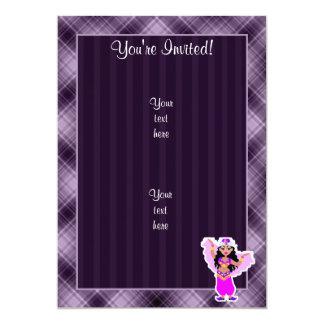 "Purple Belly Dancer 5"" X 7"" Invitation Card"