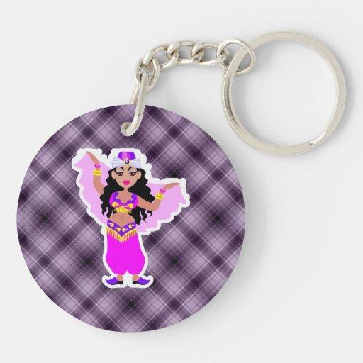 Purple Belly Dancer Key Chains