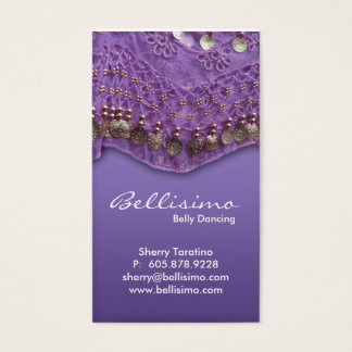 Purple Belly Dancing Business Card