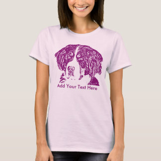 Purple Bernese Mountain Dog Add Your Text T-Shirt