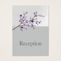 purple berries elegant winter Reception Cards