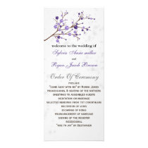 purple berries elegant winter Wedding program