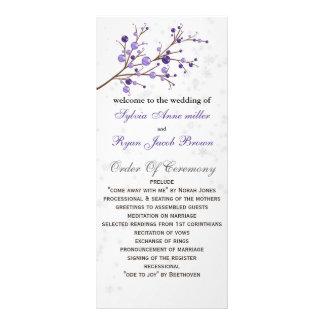 purple berries elegant winter Wedding program