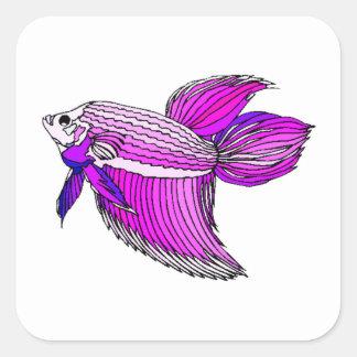 Purple Betta Fish Sticker