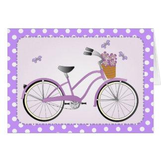 Purple Bicycle Card