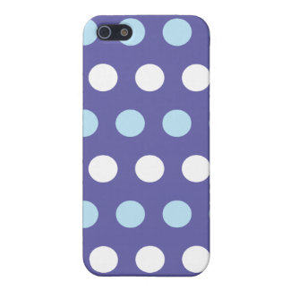 Purple Big Dot Mix Iphone 4 Case