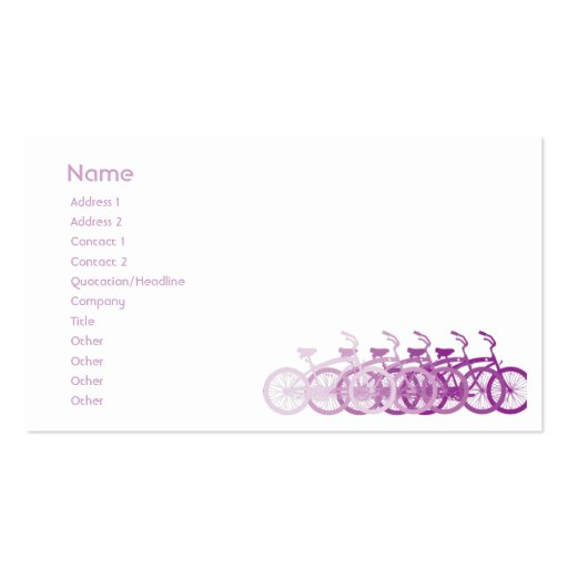 Purple Bike - Chubby Business Card