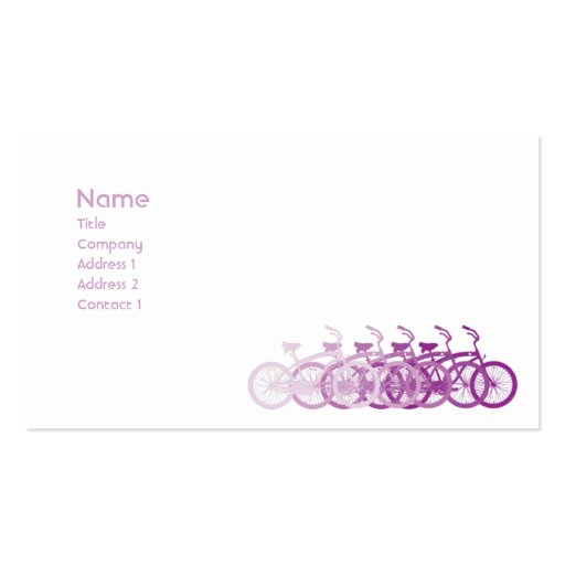 Purple Bike - Classic Business Card Template