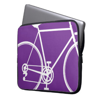 Purple bike design Laptop Sleeve
