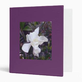 Purple binder with gardenia tints