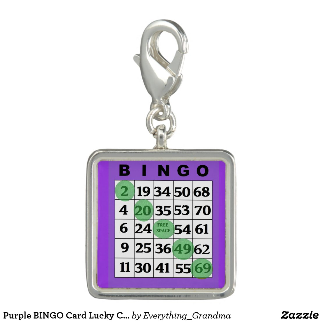 Purple BINGO Card Lucky Charm