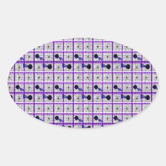 Purple Bingo Card Oval Sticker