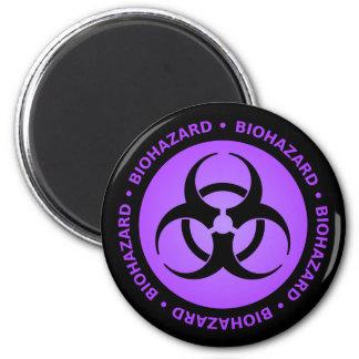 Purple Biohazard Warning Magnet