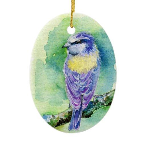 Birdhouse Christmas Tree Ornaments : Purple bird christmas tree ornament zazzle