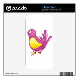 Purple bird skins for iPhone 4S