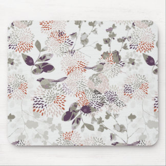 Purple birds and flowers wallpaper mouse pads