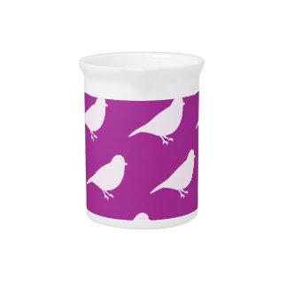 Purple Birds Beverage Pitcher