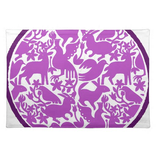 PURPLE BIRDS PURPLE CIRCLE PRODUCTS PLACEMATS