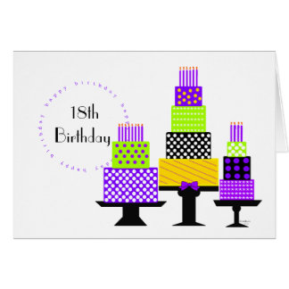 Purple Birthday Cakes Invitation