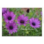 Purple Birthday Flowers Cards