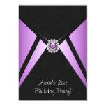 Purple Black 21st Birthday Party Invitation