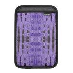 Purple black abstract pattern sleeve for iPad mini