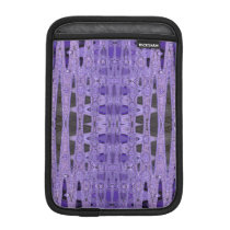 Purple black abstract pattern sleeve for iPad mini