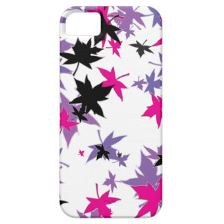 Purple, Black, and Pink Leaves iPhone SE/5/5s Case
