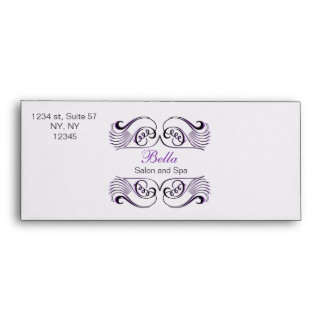 Purple black and white Chic Business envelopes