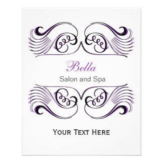 Purple , black and white Chic Business Flyers