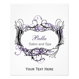 purple,black and white Chic Business Flyers