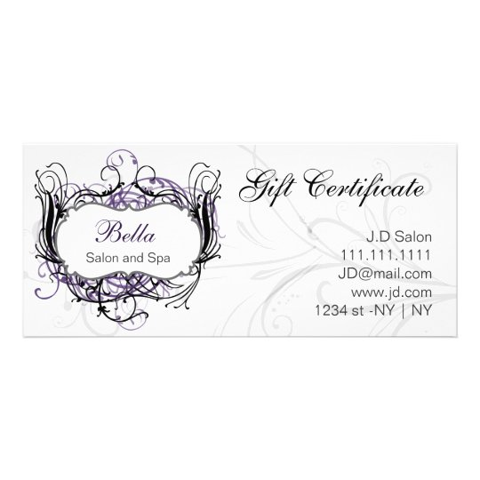purple,black and white Chic Gift Certificates