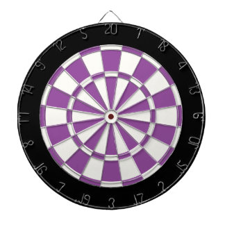 Purple Black And White Dartboard