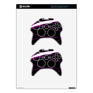 Purple, black and white lines xbox 360 controller skin