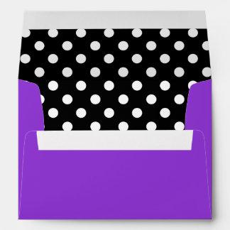 Purple Black and White Polka Dot Envelope