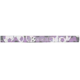 Purple, Black and White Soccer Ball Hair Tie