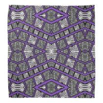 Purple Black Animal Print Bandana