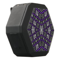 Purple Black Animal Print Black Bluetooth Speaker
