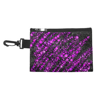 Purple Black Bling Abstract Accessory Bags