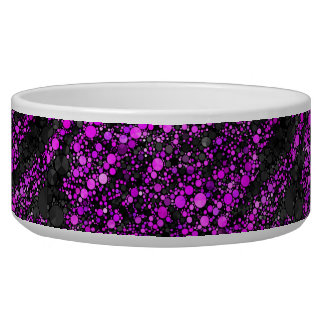 Purple Black Bling Abstract Bowl