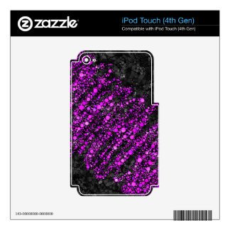 Purple Black Bling Pattern Decals For iPod Touch 4G